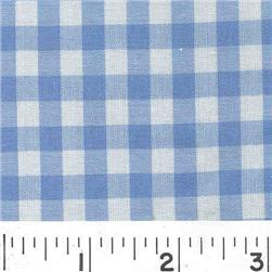Woven 1/4 Gingham Blue
