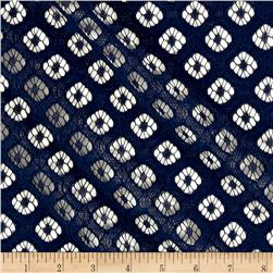 Cotton Nylon Window Fan Lace Navy