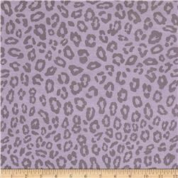 Stretch Rayon Jersey Knit Cheetah Lilac/Grey