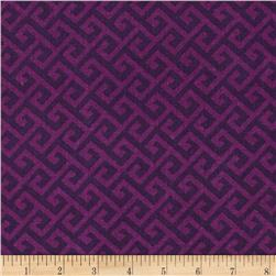 Greek Key Tonal Purple