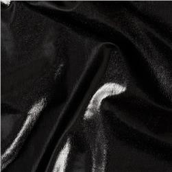 Polyester Spandex Lame Jersey Knit Matte Black Fabric