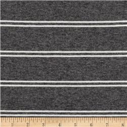 Designer Jersey Knit Stripe Heather Grey/White