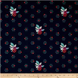 Cotton & Steel Fruit Dots Fruit Blossom Navy