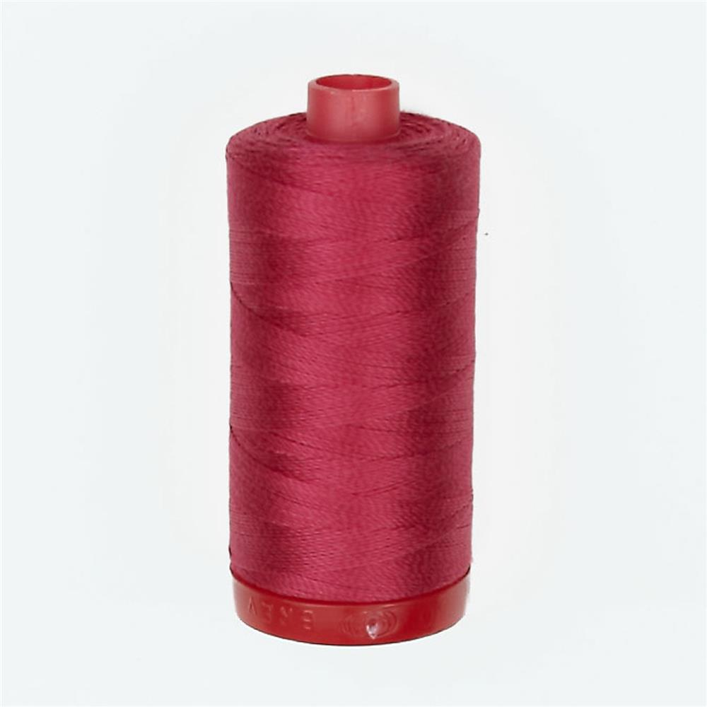 Aurifil 12wt Embellishment and Sashiko Dreams Thread Red Plum
