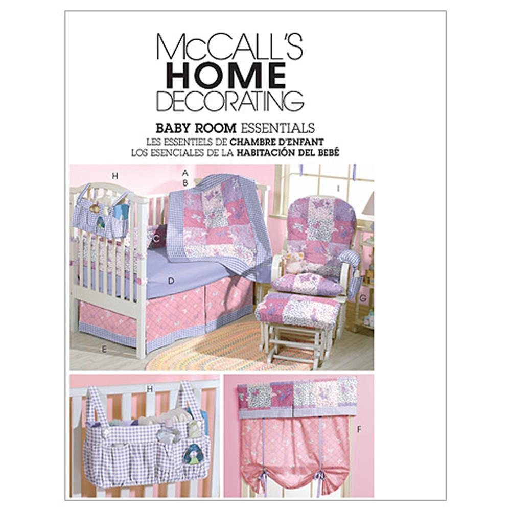 McCall's Baby Room Essentials Pattern M4855 Size OSZ