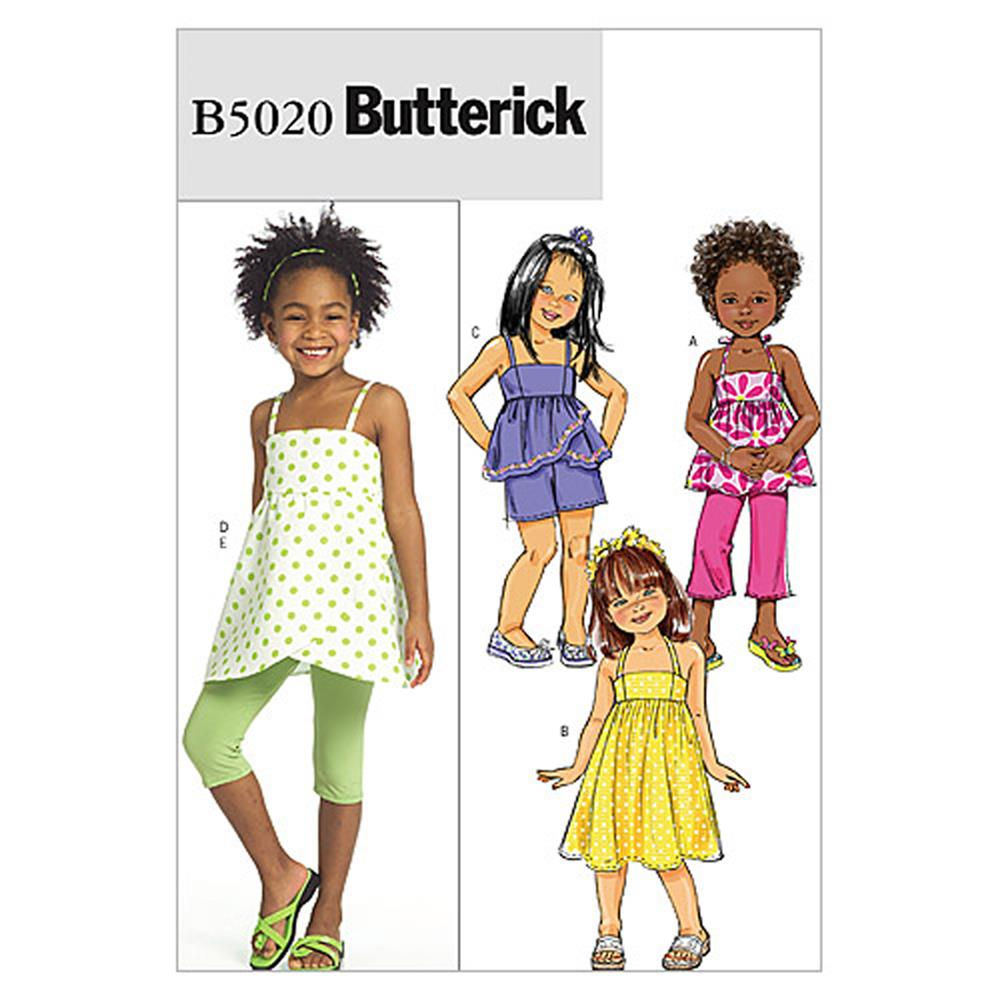 Butterick Children's/Girls' Top, Dress, Shorts, Pants And