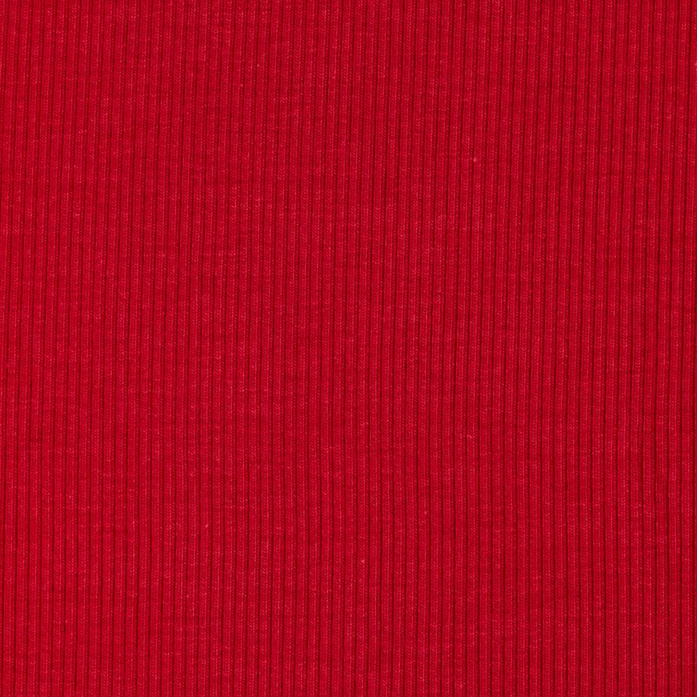 Stretch Bamboo Rayon Rib Knit Solid Red