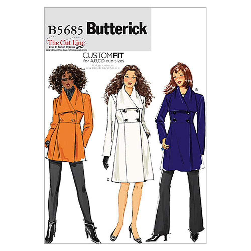 Butterick Misses' Jacket and Coat Pattern B5685 Size