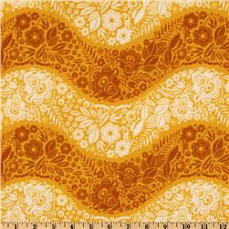 Folksy Flannel Village Path Saffron