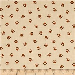 Riley Blake Rover Paw Tan
