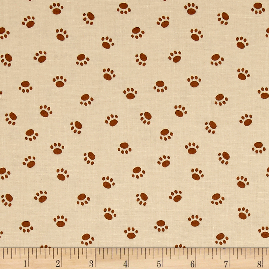Riley Blake Rover Paw Tan Fabric