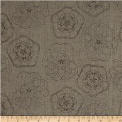 Twilight Blooms Floral Toile Dark Grey