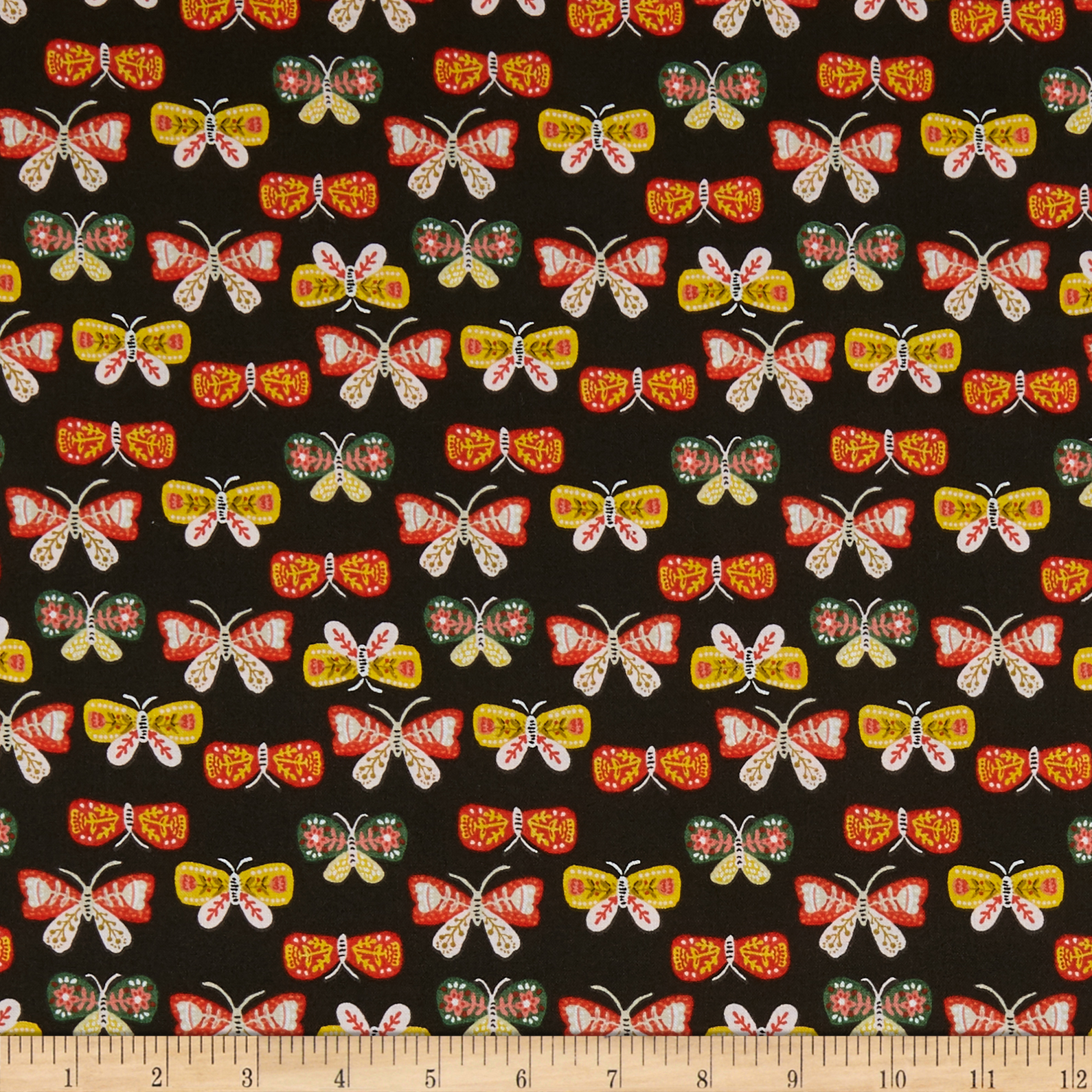 INOpets.com Anything for Pets Parents & Their Pets Fabric Editions Glorious Garden Butterflies