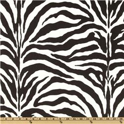 Zebra Cotton Duck Black/White Fabric