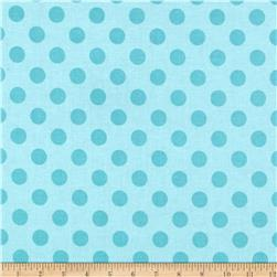 Riley Blake Laminate Medium Dots Tone on Tone Aqua