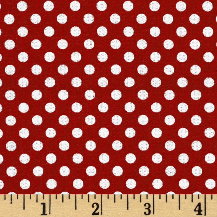 Spot On Mini Dots Red Fabric