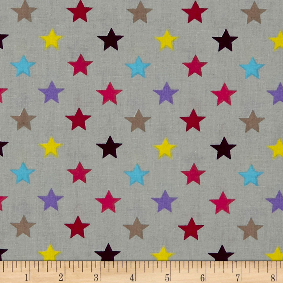Stof France Infants Seong Gris/rose Fabric