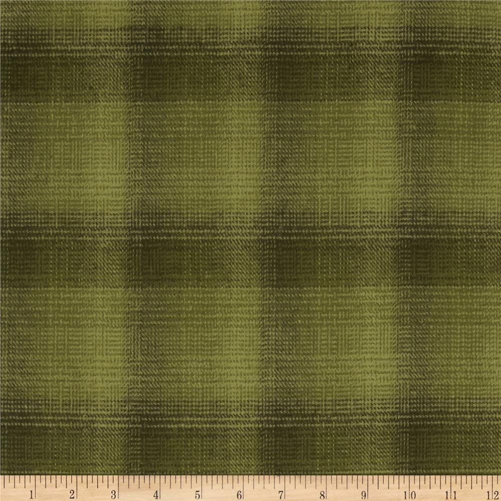 Primo Plaids Flannel Yarn Dyed Plaid Olive