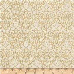 Homespun Holiday Metallic Damask Natural
