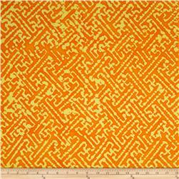 Indian Batiks Maze Orange/Yellow