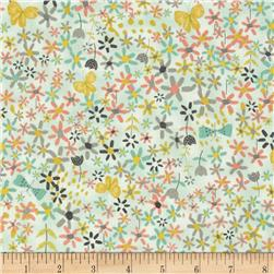Bloom Butterflies & Ditsy Floral Green