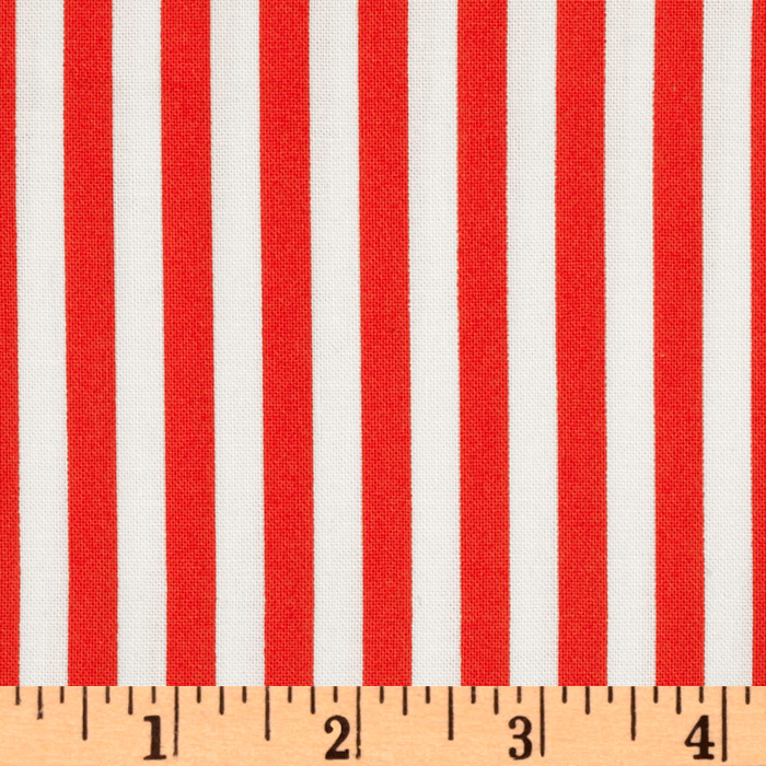 Michael Miller Retro Clown Stripe Fire Fabric