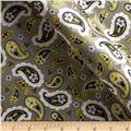Charmeuse Satin Pretty Paisley Lemon