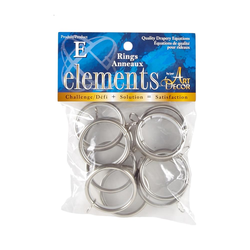 "Elements by Art Decor 1 5/8"" Metro Rings Stainless"