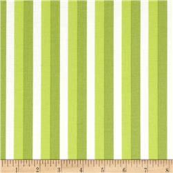 Moda Color Theory Ombre Stripes Lime Fabric