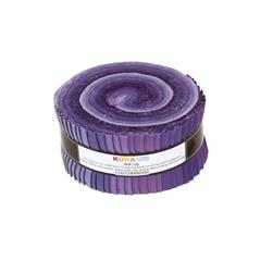 Robert Kaufman Kona Solids Lavender Fields 2.5 In. Jelly Roll