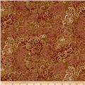 "Quilting Treasures 108"" Wide Quilt Back Omber Scroll Sable"