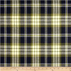 Yarn Dyed Plaid Flannel Navy/Yellow
