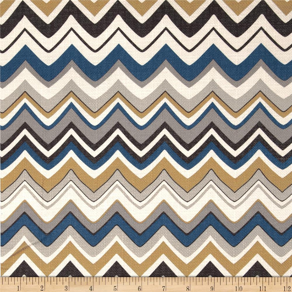 Contempo Zig Zag Blue/Grey