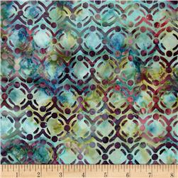 Bali Batiks Handpaint Circle Dots Waterfall