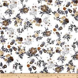 Bloom Stretch Cotton Sateen Floral Multi