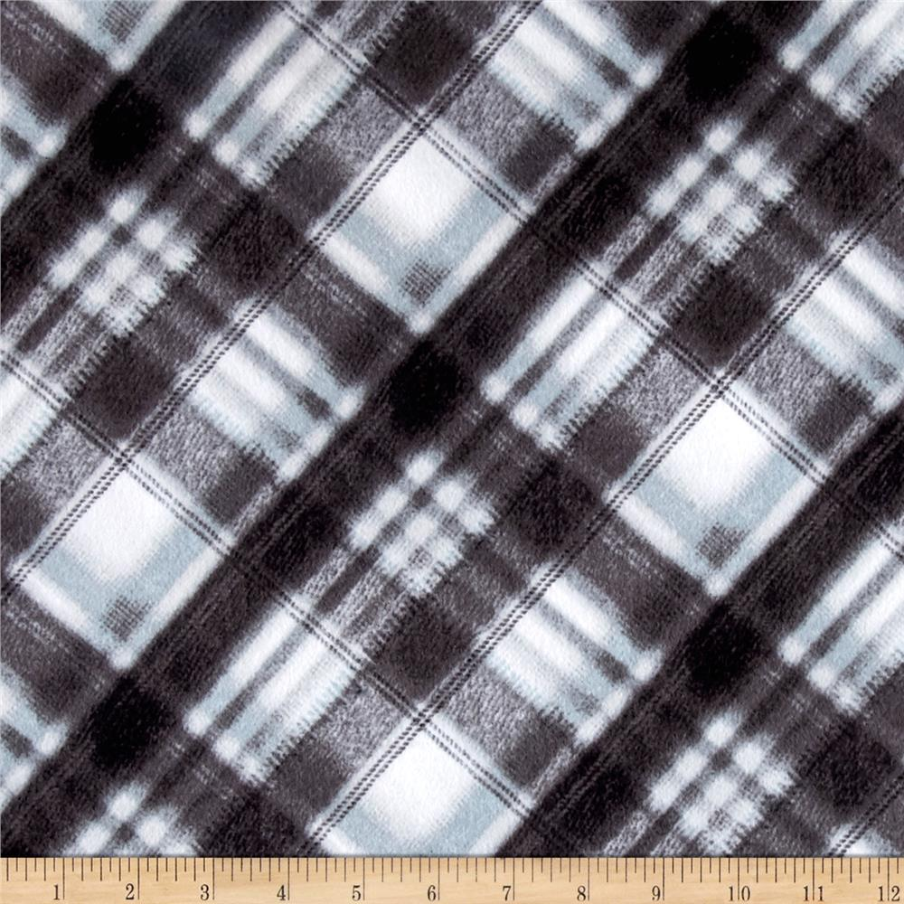 Kanvas Into the Woods Flannel Soft Plaid Gray