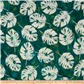 Indian Batik Polynesian Batiks Tropical Leaf Green /Aqua