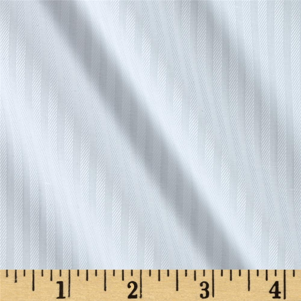 Kaufman White Shirt Dobby Stripe White