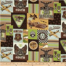 Plane Patchwork Multi