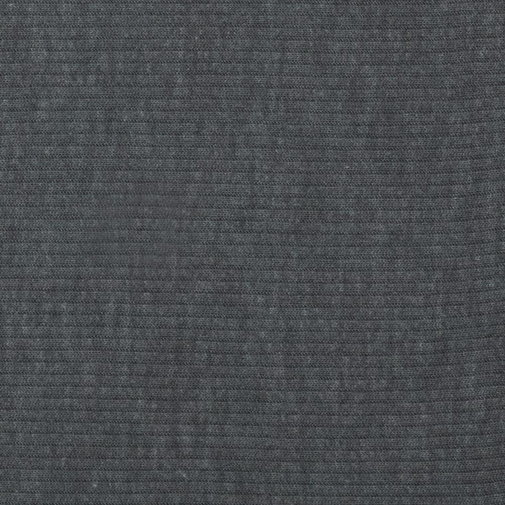 Stretch Cotton Poly Rib Knit Grey