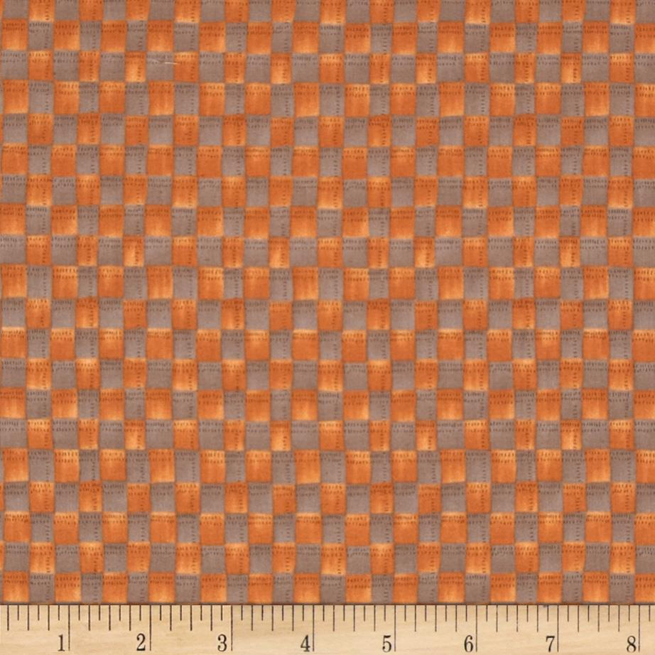 Harvest Town Grid Orange/Grey