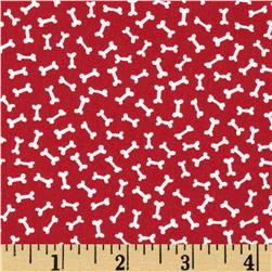 Timeless Treasures Patriotic Dogs Mini Bone Toss Red