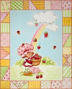 Strawberry Shortcake Classic Panel Red