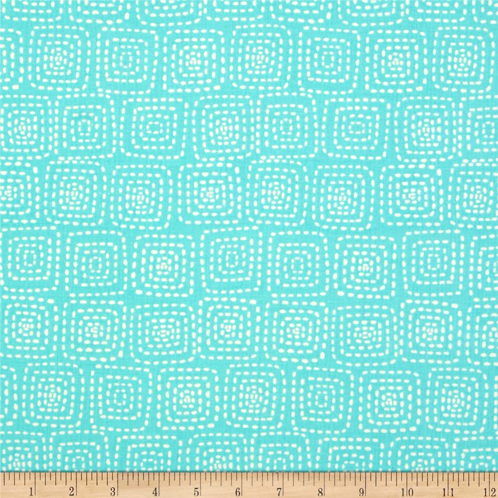 Michael Miller Stitch Square Aqua