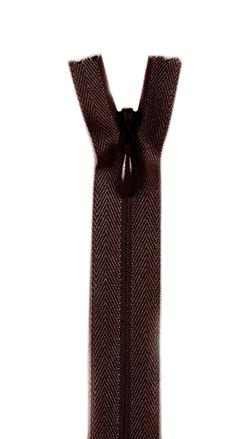 20/22'' Poly Invisible Zipper Cloister Brown