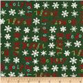 Moda Be Jolly Words Pine Green