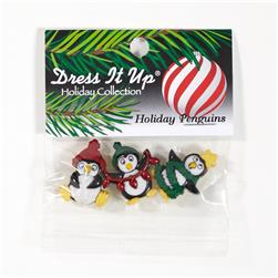 Dress It Up Embellishment Holiday Penguins