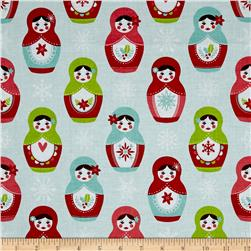 Riley Blake Merry Matryoshka Dolls Blue
