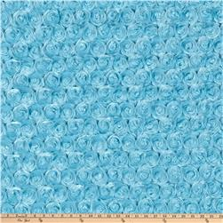 Shannon Minky Rose Cuddle Turquoise