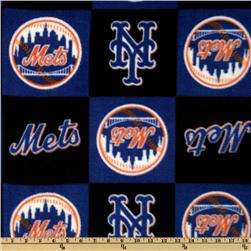 MLB Fleece New York Mets Blocks Royal/Orange/Black